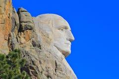 George Washington's Profile Mount Rushmore. Closeup of George Washington's profile on Mount Rushmore Royalty Free Stock Image
