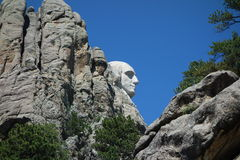 George washington's profile at mount rushmore Stock Image