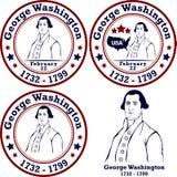 George Washington stamps Stock Image