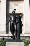 George Washington-standbeeld in Trafalgar Square, Londen, Engeland Royalty-vrije Stock Foto