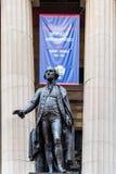 George Washington statua w Federacyjnym Hall w Nowy Jork obraz stock