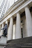 George Washington Statue. At Federal Hall in New York City stock image