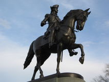 George Washington Statue, allgemeiner Garten Bostons, Boston, Massachusetts, USA lizenzfreies stockbild