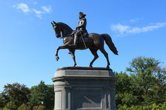 George Washington statue in Boston Common Park Stock Images