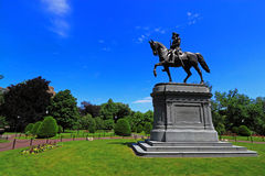 George Washington Statue Boston Common Public Garden Stock Images