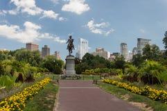 George Washington Statue Boston offentlig trädgård royaltyfri foto