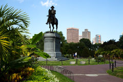 George Washington Statue in Boston Public Garden, Boston. USA royalty free stock photo