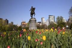 George Washington Statue in Boston Public Garden Stock Images