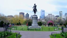 George Washington Statue in Boston Public Garden USA, stock video footage