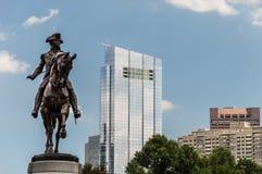 George Washington Statue, de Openbare Tuin van Boston Stock Fotografie