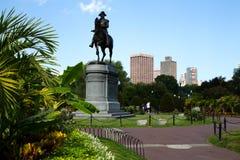 George Washington Statue en el jardín público de Boston, Boston Foto de archivo libre de regalías