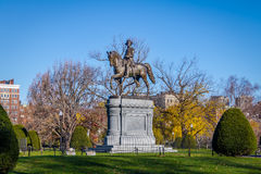 George Washington Statue en el jardín público de Boston - Boston, Massachusetts, los E.E.U.U. imagen de archivo