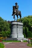George Washington Statue en los jardines públicos de Boston Fotografía de archivo