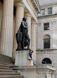George Washington Statue en Pasillo federal Foto de archivo libre de regalías