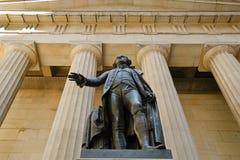 George Washington Statue et Hall National Memorial fédéral, NYC images libres de droits