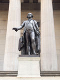 The George Washington statue at the Federal Hall in New York. The George Washington statue at the Federal Hall in downtown New York royalty free stock image