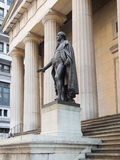 The George Washington statue at the Federal Hall in New York Royalty Free Stock Photo