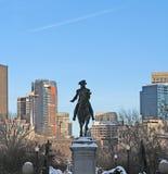 George Washington Statue i Boston Arkivfoton