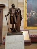 George Washington Statue i USA-huvudstadrotundan Arkivbild