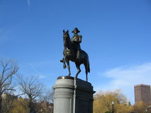 George Washington Statue, jardim de Boston Public, Boston, Massachusetts, EUA Fotos de Stock