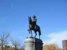 George Washington Statue, jardin public de Boston, Boston, le Massachusetts, Etats-Unis Photographie stock libre de droits