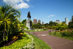 George Washington Statue nel giardino pubblico di Boston, Boston fotografia stock libera da diritti