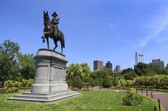 George Washington Statue no jardim de Boston Public Foto de Stock