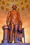 George Washington Statue. A Statue of President George Washington dressed in Masonic Regalia at the George Washington Masonic Memorial in Alexandria VA, near the royalty free stock photo