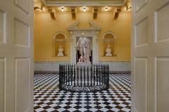George Washington statue. In the rotunda of the Virginia State Capitol in Richmond, Virginia stock images