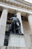 George Washington Statue Wall St. NYC Royalty Free Stock Image