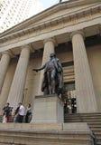 George Washington Statue, Wall Street, NYC Stock Photo