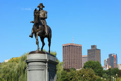 George Washington staty i Boston CommonPark Royaltyfri Fotografi