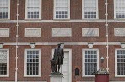 George Washington staty på självständighet Hall Royaltyfri Foto