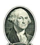 George Washington su un dollaro Immagini Stock Libere da Diritti