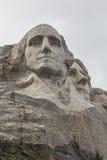 George Washington & Thomas Jefferson On Mount Rushmore. The faces of George Washington and Thomas Jefferson on Mount Rushmore Stock Image
