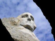 George Washington vänder mot på Mount Rushmore, South Dakota, USA royaltyfria foton