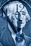 George Washington van de V.S. één dollar Stock Afbeelding