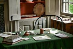 George Washington War Desk en el parque de la fragua del valle imagen de archivo