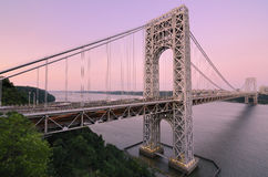 George- Washingtonbrücke stockfotos