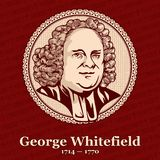George Whitefield 1714 — 1770 był Angielskim kaznodzieją, jeden założyciele wraz z John Wesley royalty ilustracja
