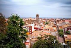 Georgeous взгляд от внешнего вида над Malgrat de mar, Испанией стоковые фото