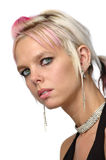 Georgeous Girl With Piercings Royalty Free Stock Image