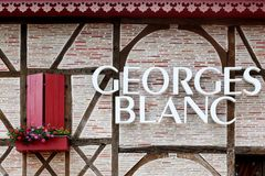 Georges Blanc restaurant in Vonnas, France Stock Photo