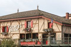 Georges Blanc-Restaurant in Vonnas, Frankreich Stockfotos