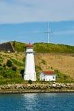 Georges Island lighthouse, Halifax. Georges Island lighthouse and fortifications in Halifax harbour, Halifax, Nova Scotia, Canada stock images