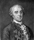 Georges-Louis Leclerc, Comte de Buffon. (1707-1788) on engraving from 1859. French naturalist, mathematician, cosmologist and encyclopedic author. Engraved by Stock Images