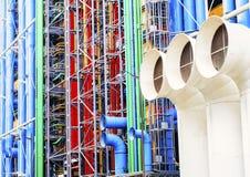 Georges Pompidou Center Παρίσι Στοκ Εικόνες