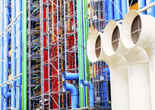 Georges Pompidou Center Paris Arkivfoto