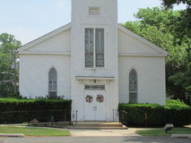 "Georges Road Baptist Church-ingang in Noord-Brunswick, NJ, de V.S. Ð "" Royalty-vrije Stock Foto's"
