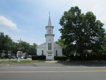 Georges Road Baptist Church with vane in North Brunswick, NJ, USA. Г. Royalty Free Stock Image